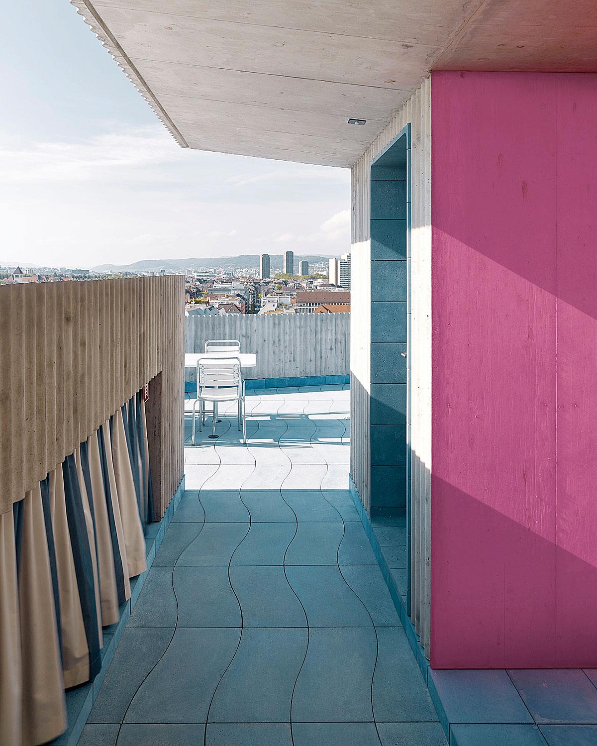 Hohes Haus West: Dachterrasse