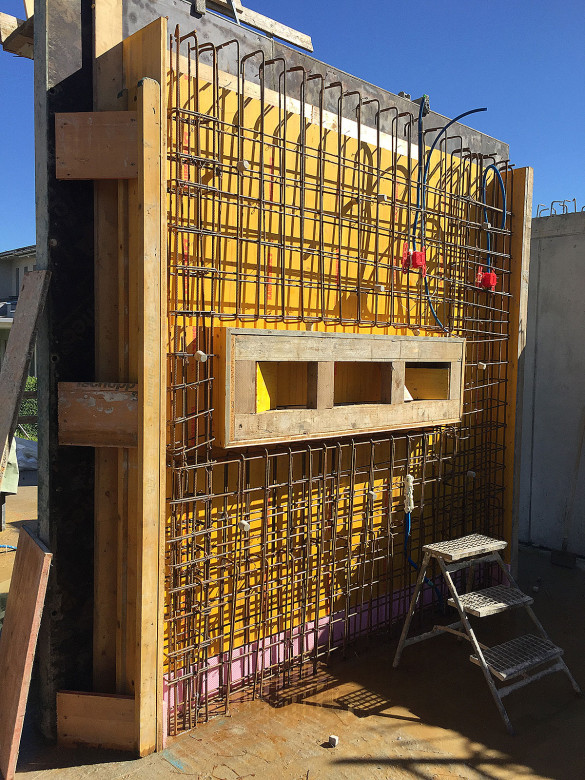 Baustelle-Schalung