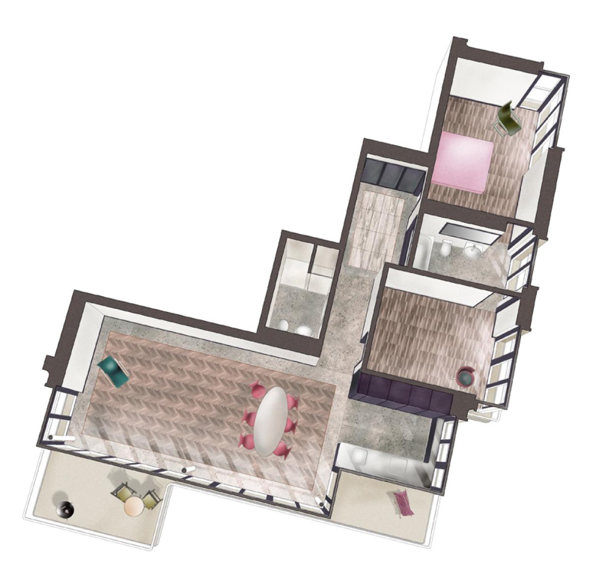 3,5-Zimmer-Wohnung 94 m2