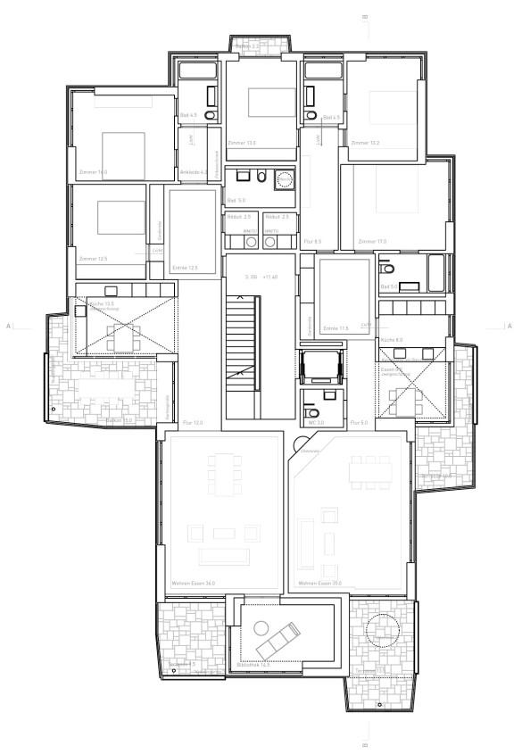 Grundriss 4. Obergeschoss