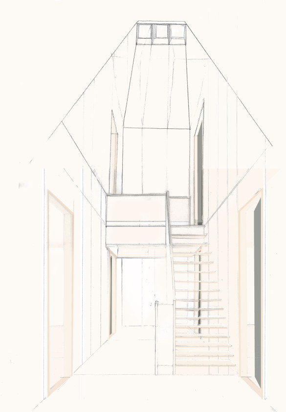 1303_3-Treppe-BH_2.OG_grün_mit-Dachfenster-neu
